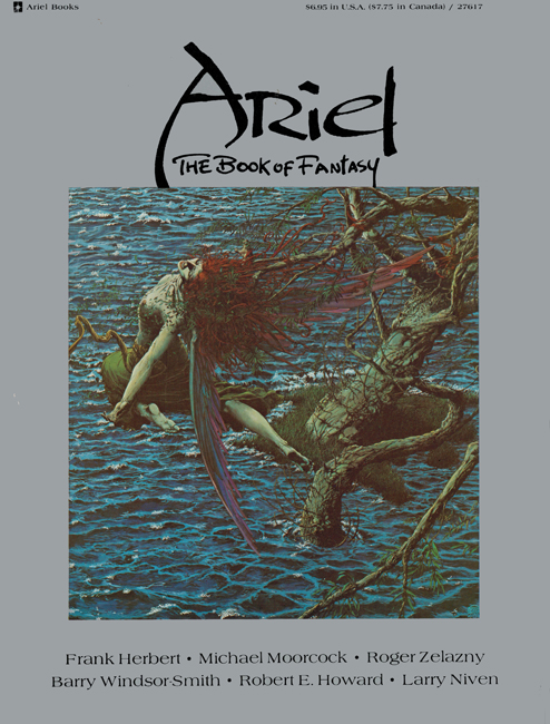 1978  <b><i>Ariel:  The Book Of Fantasy</i></b> (#<b>3</b>), Ballantine outsized p/b