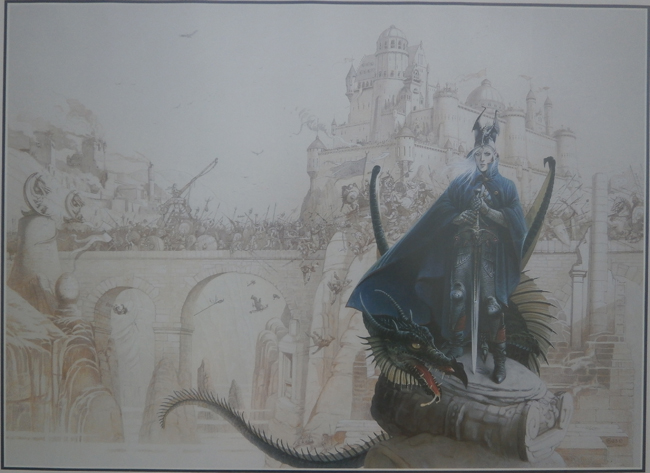 <b><i>Elric  At The End Of Time</i></b>, signed print by Chris Achilléos (No. 3)