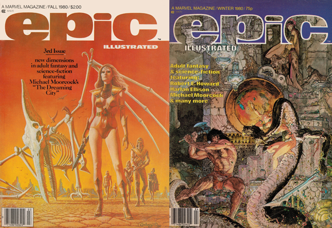 1980  <b><I> Epic Illustrated</I></b> (#<b>3</b> & <b>4</b>)