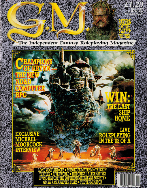 1990 <b><I>G.M.:  The Independent Fantasy Roleplaying Magazine</I></b> (<b>Vol. 2  No. 7</b>)
