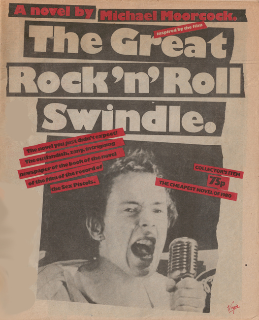 <b><I>Great Rock 'n' Roll Swindle, The</I></b>, outsized newspaper