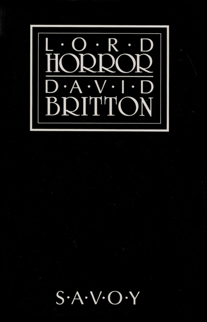 <b>           Britton, David — <I>  Lord Horror</I></b>, 1989
