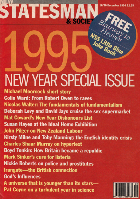 1994 <b><I>New Statesman & Society</I></b> (<b>Vol. 7  No. 333</b>)