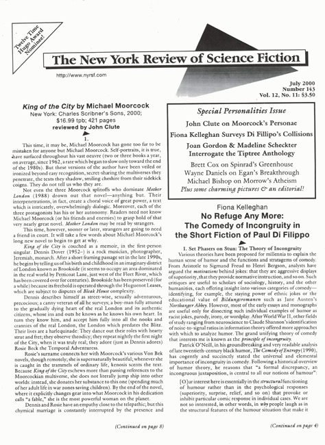 2000 <b><I>The New York Review Of Science Fiction</I></b> (#<b>143</b>)