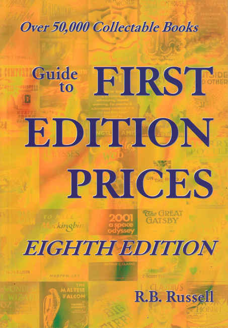 <B>   Russell, R.B.</b> (ed.):  <b><I>Guide To First Edition Prices: Eighth Edition</b></I>, Tartarus, 2010 trade p/b