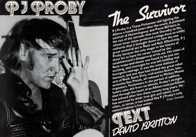 <b>           Britton, David — <I>   PJ Proby:  The Survivor</I></b>, 1984