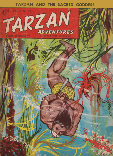 1957 <b><I>Tarzan Adventures</I></b> (<b>Vol. 7  No. 25</b>), ed. M.M.