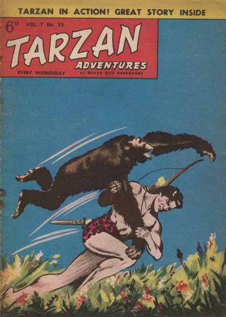 1957 <b><I>Tarzan Adventures</I></b> (<b>Vol. 7  No. 33</b>), ed. M.M.