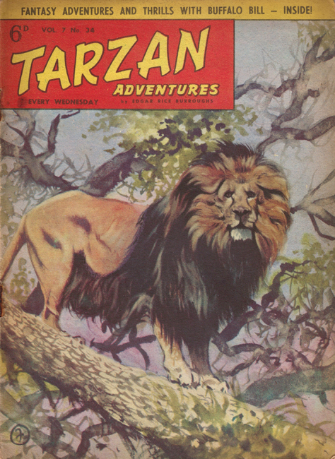 1957 <b><I>Tarzan Adventures</I></b> (<b>Vol. 7  No. 34</b>), ed. M.M.
