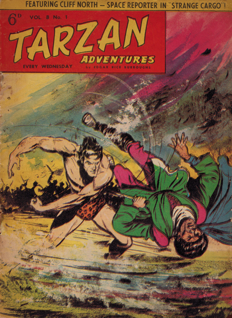 1958 <b><I>Tarzan Adventures</I></b> (<b>Vol. 8  No.  1</b>), ed. M.M.