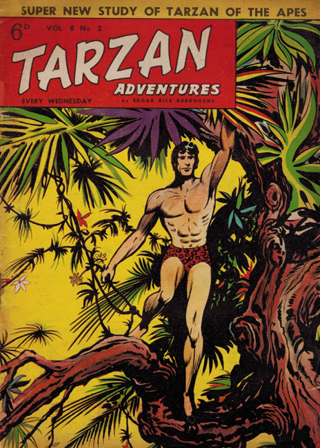 1958 <b><I>Tarzan Adventures</I></b> (<b>Vol. 8  No.  2</b>), ed. M.M.
