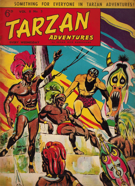 1958 <b><I>Tarzan Adventures</I></b> (<b>Vol. 8  No.  3</b>), ed. M.M.