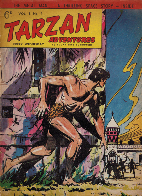 1958 <b><I>Tarzan Adventures</I></b> (<b>Vol. 8  No.  4</b>), ed. M.M.